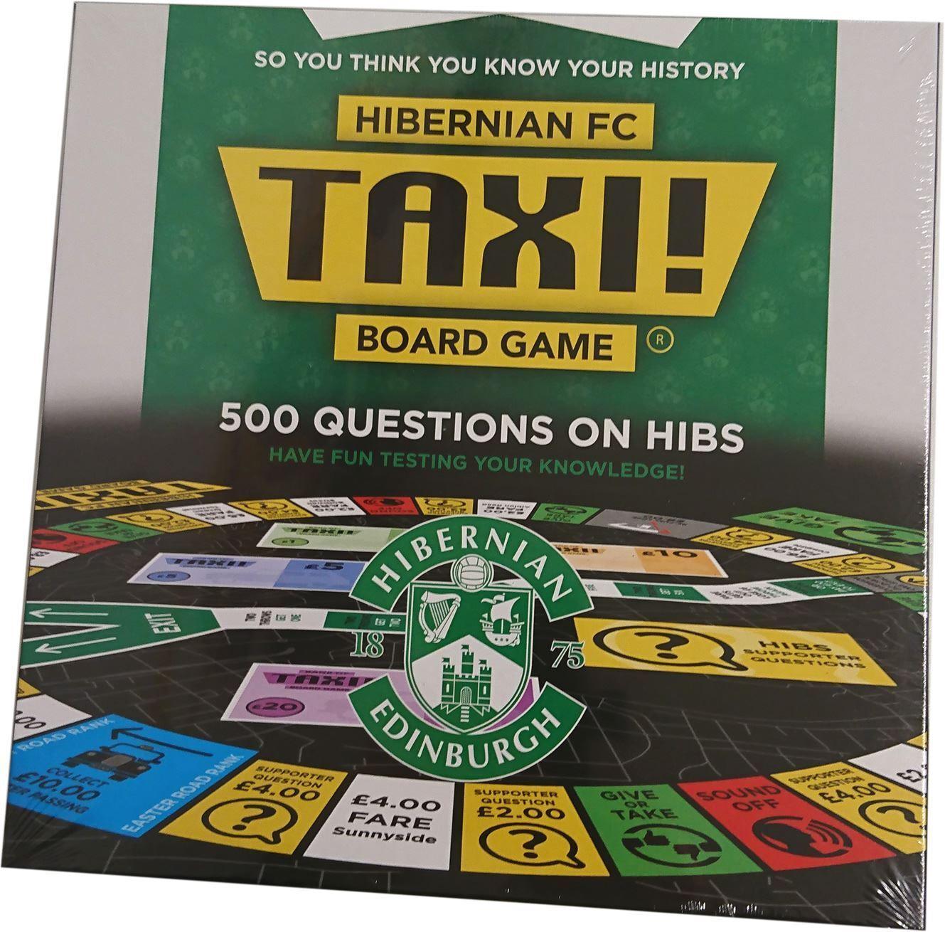 JUST RELEASED   Taxi Board Game Hibernian FC