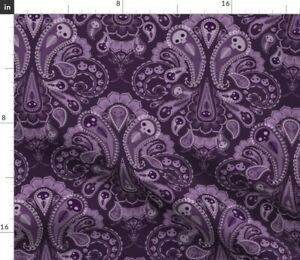 Paisley Victorian Damask Halloween Ghost Grave Spoonflower Fabric by the Yard