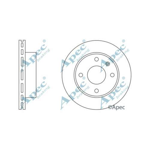 Fits Ford Escort MK4 1.6 XR3i Genuine Apec Front Vented Brake Discs Set