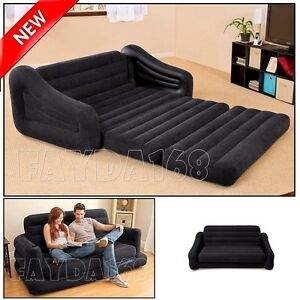 Image Is Loading Large Futon Sectional Sofa Couch Air Bed Loveseat