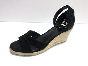 nine west women's jabrina suede wedge sandal