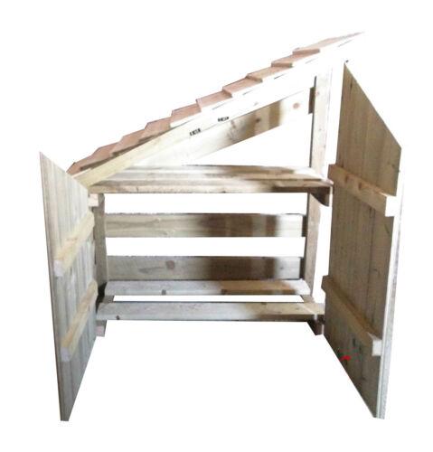 Wooden Garden Slopping Log Store Doors to Front Garden Storage Heavy Duty
