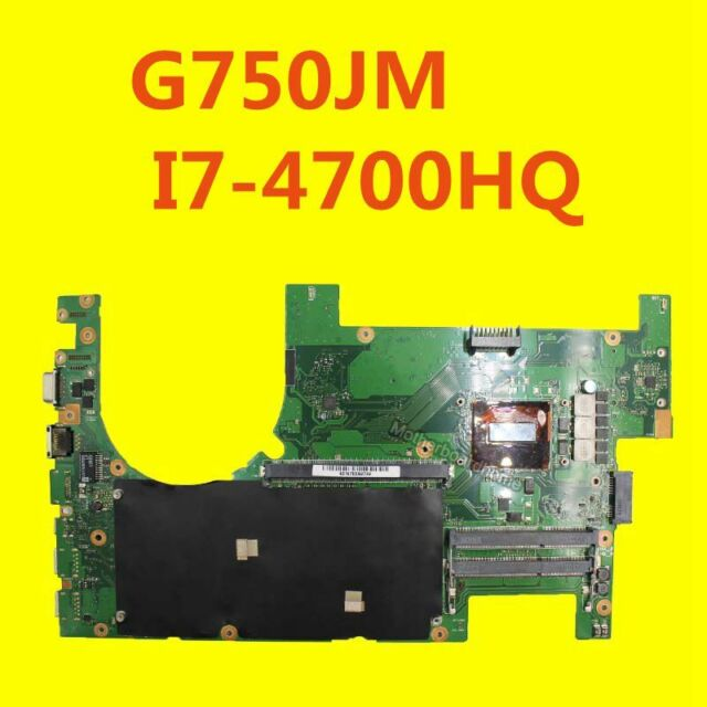 For ASUS ROG G750J G750JM 2D Motherboard W/ I7-4710HQ G750JS REV 2.0 Mainboard