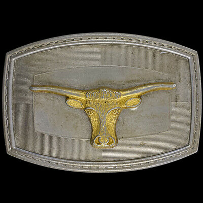 Vintage Competition Truckers Buckle Silvertone