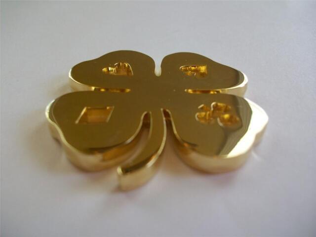 SILVER.999 POKER GUARD CARD  4 LEAF CLOVER GOOD LUCK ENGRAVABLE COIN 1 OZ GOLD