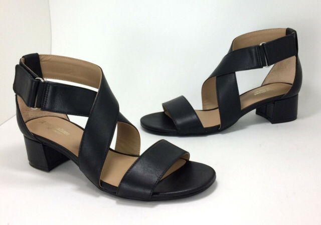 593dda6869e Naturalizer Adele size 8 Block Heel Sandals N5 Comfort Black Vegan Faux  Leather