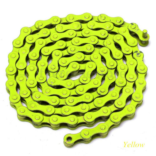 Bicycle Bike Chain Single Speed 1//2/'/'x1//8/'/' Colours MTB BMX Fixie Fixed Gear US