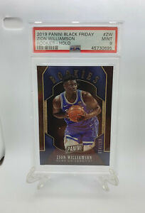 2019-Panini-Black-Friday-Zion-Williamson-Holo-Rookie-Card-RC-199-Psa-9-Mint