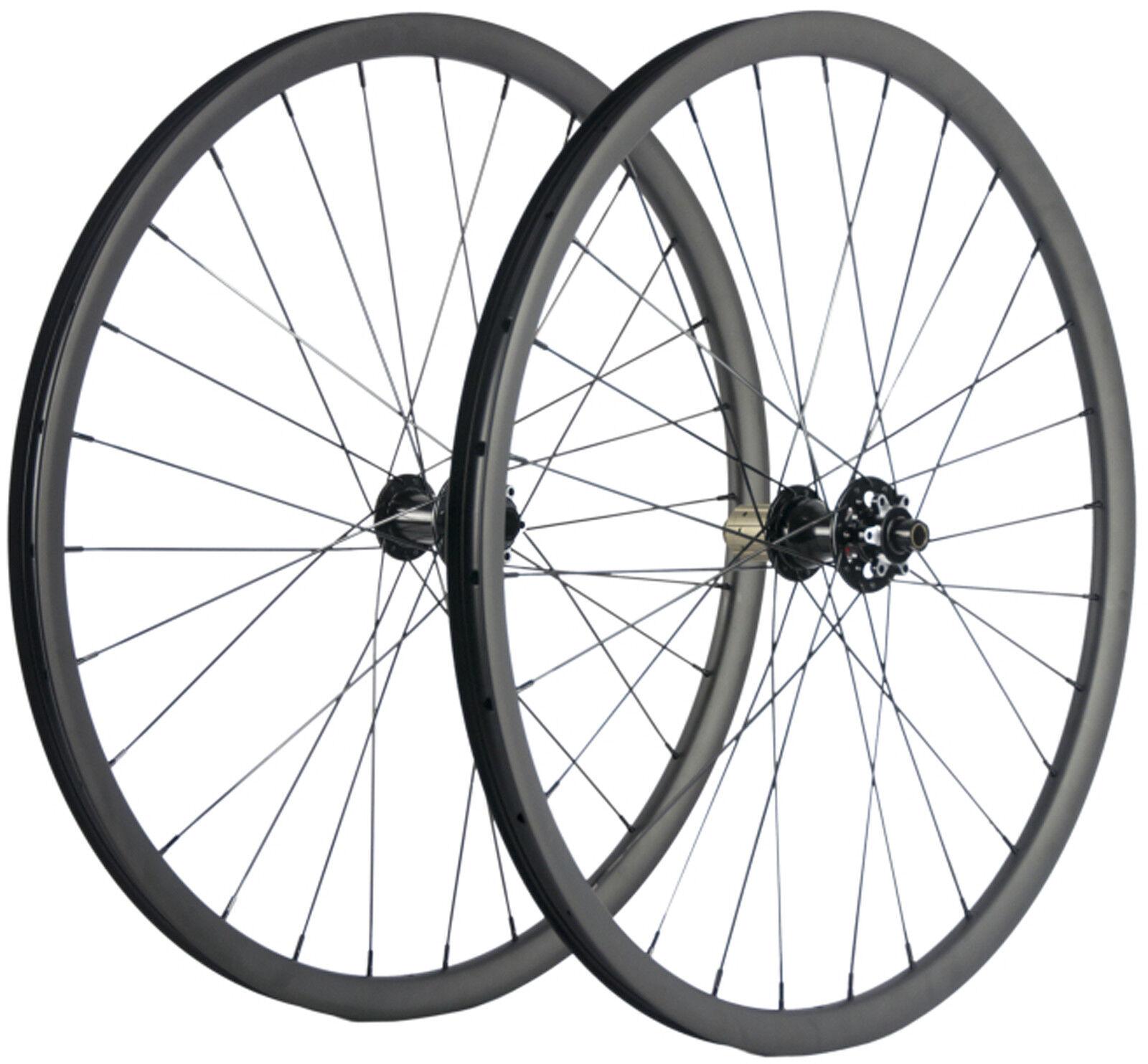 29ER Carbon MTB Wheelset 27mm Brödd berg Kolhjul Tublöst kompatiBälte