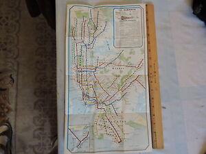 Nyc Subway Map Ebay.Details About Orig Feb 1961 New York City Nyc Subway El Transit Train Map