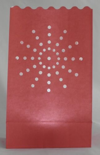 Red Candle Bags supernova sun design pack of 10 red luminary paper lanterns