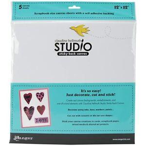 Ranger-Claudine-Hellmuth-Studio-Sticky-Backed-Canvas-12-034-x-12-034-White