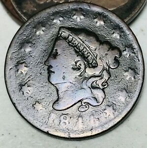 1816-Large-Cent-Coronet-Head-1C-Higher-Grade-Good-Date-US-Copper-Coin-CC4616