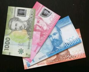 Lot-Billets-Chili-Pesos-chilien