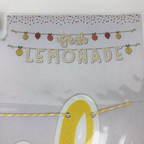 """NEW Fresh Lemonade Glitter Stand Fruit Banner 60/"""" Long Each FREE SHIPPING"""