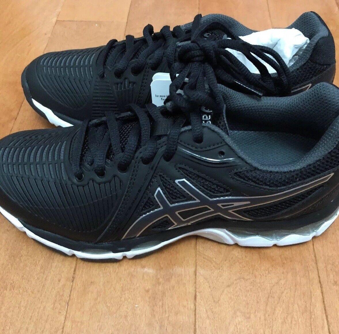 Nuevas ASICS Gel-Netburner balística para mujer voleibol Zapatos Negro gris M