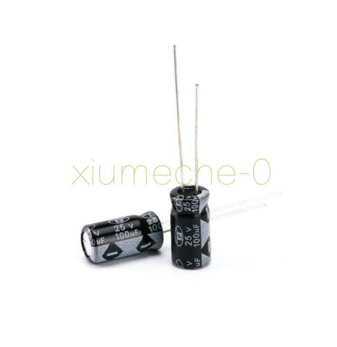 30PCS 100UF 25V Radial Electrolytic Capacitor The general size NEW