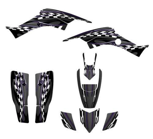 Honda TRX 400EX Graphics kit for 1999-2007 Black Plastics #2600-Purple