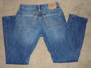 Abercrombie Fitch Ajustado Recto Para Hombres Cierre De Botones Jeans 30 X 30 Buen Ebay
