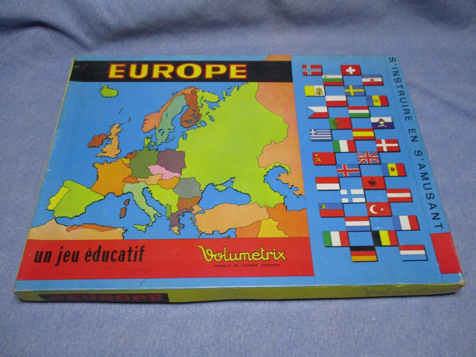 AE808 VOLUMETRIX EUROPE PUZZLE JEU EDUCATIF SUPERBE ETAT