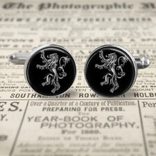 Game of Thrones Cufflinks, House Lannister, sigil Cuff Links, Gift for Men, Him.