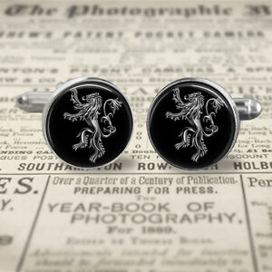 Game of thrones cufflinks house lannister sigil cuff for Game of thrones gifts for men