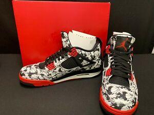 buy popular 860aa 6274e Image is loading Nike-Air-Jordan-4-Retro-SNGL-DY-Men-