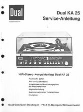 Dual Service Manual für KA 25