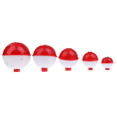 Hard ABS Fishing Floats Bobbers Push Button Round Buoy Floats Fishing Tackle 7 Snap-On Floats Bobbers Set