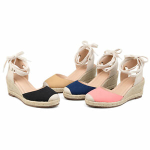 Image Is Loading Comfort By Brinley Co Womens Espadrille Wedge