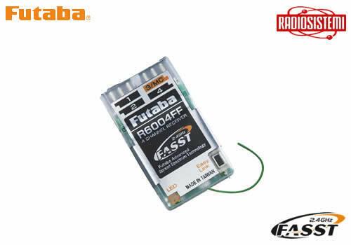 Futaba FUT110 RX R6004FF FASST 2,4 GHz 4 ch modellismo