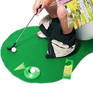 Aseos golf WC juego gag divertido pensado fiesta regalo jugador de golf
