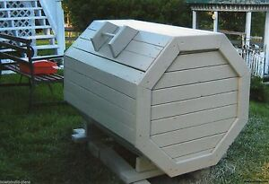 Plans how to build your own wood octagon garbage trash box for How to build an octagon house