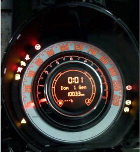 Dettagli Su Quadro Strumenti Fiat New 500 Sporting Anno 2009
