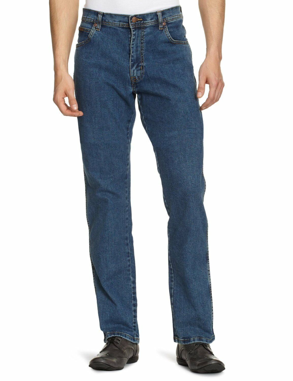 Wrangler Texas Stretch Regular Fit Jeans Stonewash Blau New Men's Denim Pants  | Rich-pünktliche Lieferung  | Feine Verarbeitung  | Modern Und Elegant In Der Mode