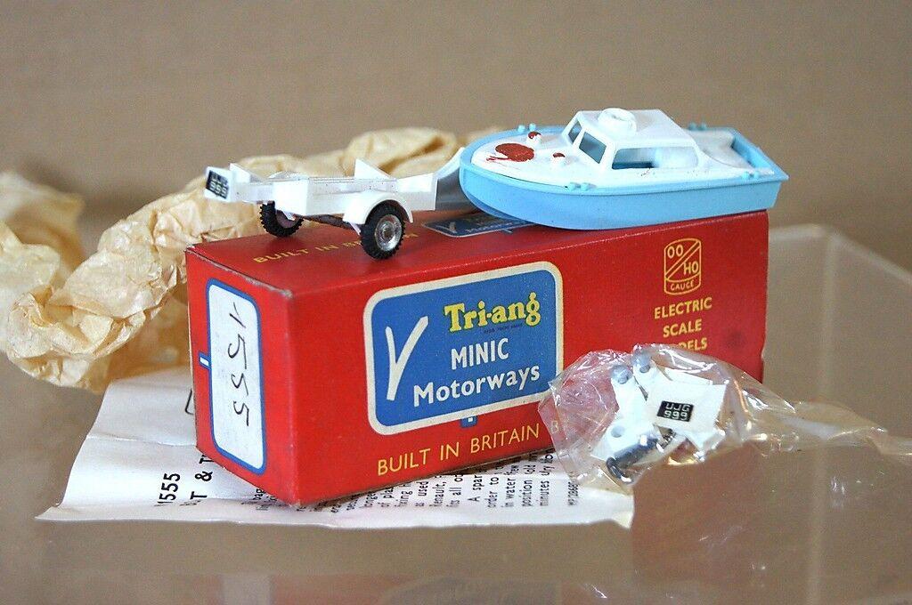 Hornby triang Minic autorute M1555 vitesse bateau et remorque nouvelles boîte pi