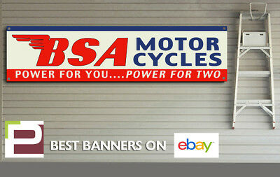 BSA Power For Two Banner for Workshop B50 Garage etc Goldstar C15 Rocket 3,