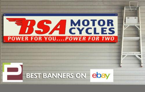 BSA Power For Two Banner for Workshop B50 Garage etc Goldstar C15 Rocket 3,