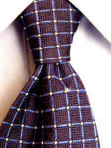 Herren-accessoires Hilfreich Herren Faconnable Blau Seidenkrawatte A1405 Krawatten & Fliegen