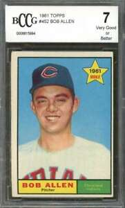 Bob-Allen-Rookie-Card-1961-Topps-452-Cleveland-Indians-BGS-BCCG-7