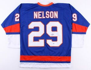 the best attitude 2f9ad 96dfa Details about Brock Nelson Signed Islanders Jersey (Beckett) 30th overall  pick 2010 NHL Draft