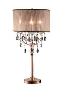 Image Is Loading Ok Lighting 5126t Rosie Crystal Table Lamp