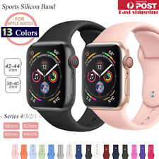Sports Silicone Bracelet wrist band F Apple Watch Series 5 4 3 2 1-38 40 42 44mm