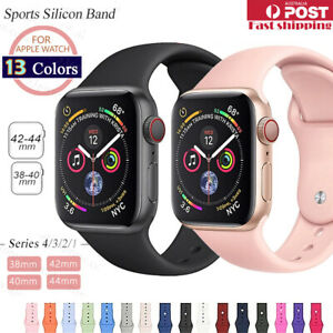 Sports-Silicone-Bracelet-wrist-band-F-Apple-Watch-Series-5-4-3-2-1-38-40-42-44mm