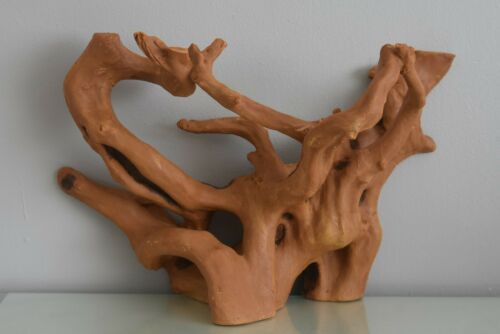 Impresionante acuario tronco de madera de raíz grandes flatbacked trozos de madera 32 X 14 X 19 Cm