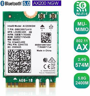 Wireless Card With Bluetooth 5 0 Wifi Module M 2 Ngff 2 4gbps Intel Ax200ngw 723172891060 Ebay