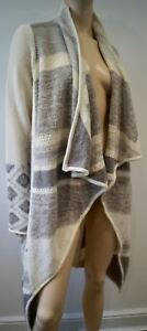 Length Wool Long Knitwear Open Front Alpaca M Cream amp; Blend Vince Grey Cardigan qTwtzfWB