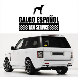 Ayc Auto Aufkleber Galgo Espanol Taxi Service Hundeaufkleber Fun