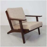 Lænestol, stof, Hans J. Wegner, Lænestol, egetræ