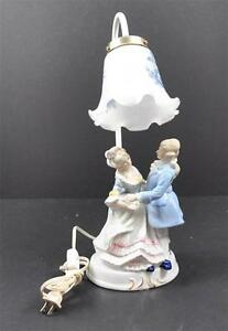 Lamps vintage 1950 porcelain man woman
